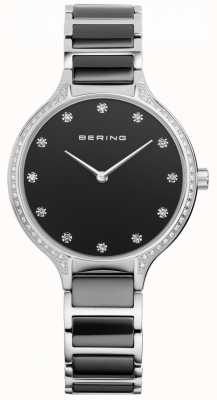 Bering Dames zwart keramisch zirconia set horloge 30434-742