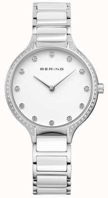 Bering Dames wit keramiek zirconia set horloge 30434-754
