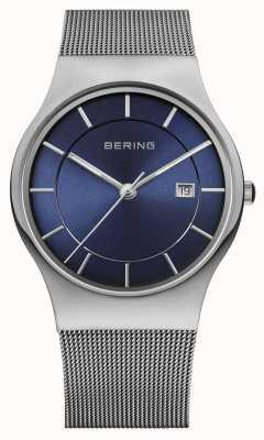 Bering Mannen milanese maasband blauw gezicht horloge 11938-003