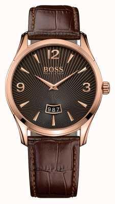 Hugo Boss Gents commandant bruin lederen horloge 1513426