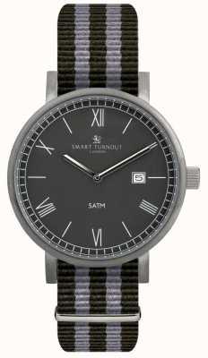 Smart Turnout County horloge-zwart met nato band STK1/BK/56/W