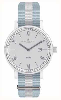 Smart Turnout County horloge - zilver met ell riem STK1/SV/56/W