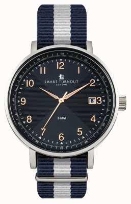 Smart Turnout Scholar horloge blauw met Yale riem STH3/BL/56/W