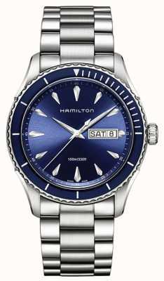 Hamilton Mens Jazzmaster zeezicht dag datum blue H37551141