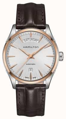 Hamilton Mens Jazzmaster dag datum auto leder H42525551