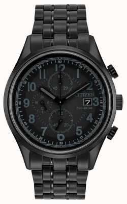 Citizen Mens eco-rijden black metal Chandler CA0625-55E