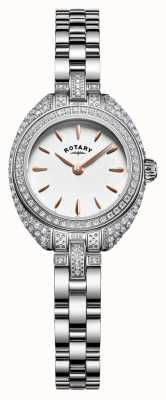 Rotary Womans petite steen set armband zilver LB05087/02