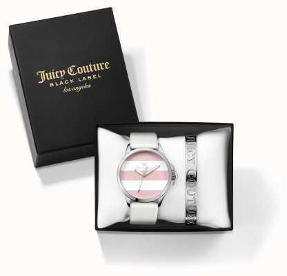 Juicy Couture Womans Fergi wit zilveren armband en horloge cadeau set 1950009