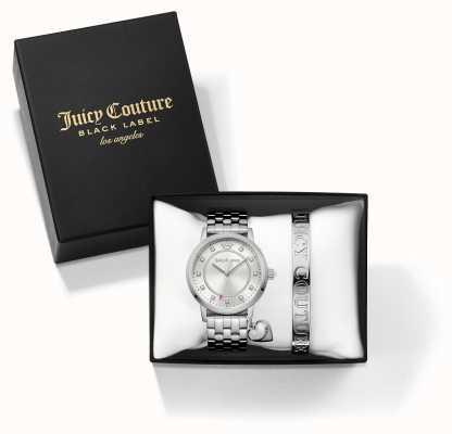Juicy Couture Womans socialite zilveren armband en horloge cadeau set 1950010