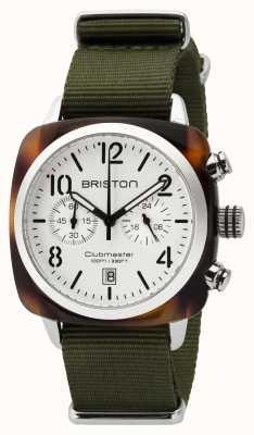 Briston Mens clubmaster klassieke acetaat chrono schildpad shell wit 16140.SA.T.2.NGA