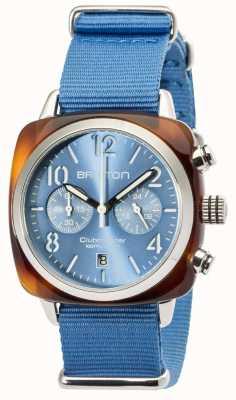 Briston Mens clubmaster klassieke acetaat chrono schildpad grijs 16140.SA.T.14.NLB