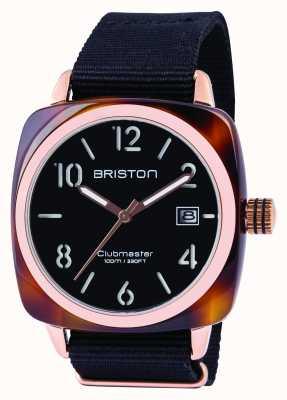 Briston Mens clubmaster klassieke acetaat zwart 13240.PRA.T.1.NB