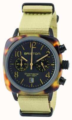 Briston Mens clubmaster klassieke acetaat chronograaf safari 14140.PBAM.TS.5.NK