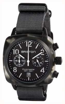 Briston Mens clubmaster klassieke acetaat alpine jager zwart 15140.PBAM.GT.3.NG