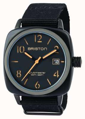 Briston Heren clubmaster klassieke acetaat hms zwarte matte 14240.PBAM.B.4.NB
