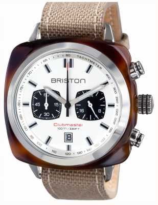 Briston Heren clubmaster sport acetaat schildpad shell chrono wit 15142.SA.TS.2.LSK