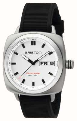 Briston Heren clubmaster sportstaal hms wit 16342.S.SP.2.RB