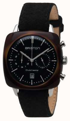 Briston Mens CLUBMASTER uitstekende acetaat Chrono schildpad black 16140.SA.TV.1.LFB