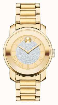 Movado Vet midsize luxe geel goud-ion-plated k1 kristal set 3600255