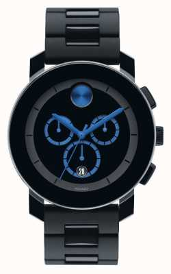 Movado Vet grote chronograaf zwarte TR90 samengestelde 3600101