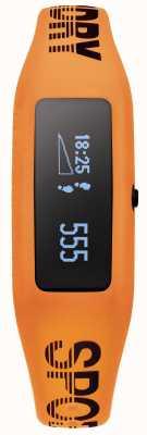 Superdry Unisex fitness tracker oranje siliconen band SYG202O
