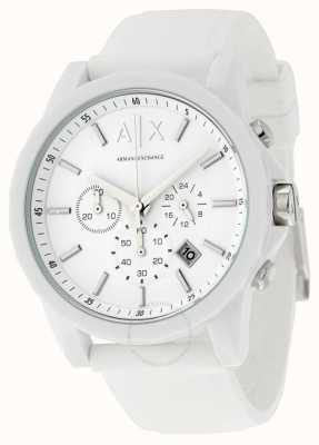 Armani Exchange Heren actieve witte chronograaf silicone AX1325