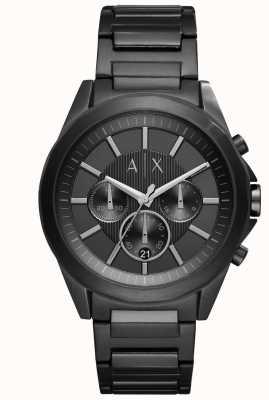 Armani Exchange Heren zwart verguld staal AX2601