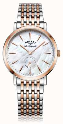 Rotary Womans swiss made Windsor twee toon parelmoer LB90191/41