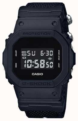 Casio G-shock black-out stoffen riem voor heren DW-5600BBN-1ER