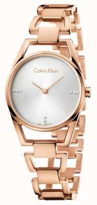 Calvin Klein Womans sierlijke rose gold plated K7L2364T
