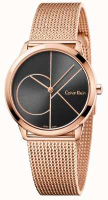 Calvin Klein Dames minimale rosé gouden mesh band K3M22621