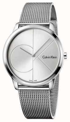 Calvin Klein Mannen minimale zilveren stalen maasband K3M2112Z