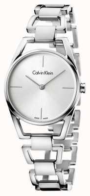 Calvin Klein Womans sierlijke roestvrij staal zilverkleurige wijzerplaat K7L23146