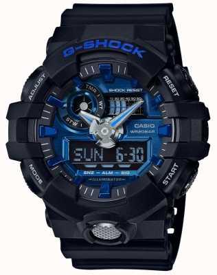 Casio Mens G-shock alarm chronograaf blauw GA-710-1A2ER
