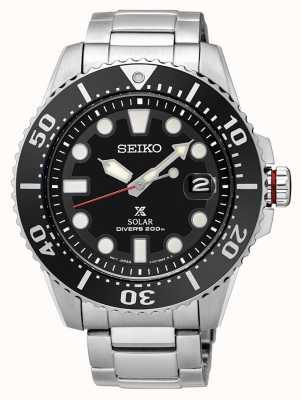 Seiko Mens Prospex zonne-duikers metalen armband SNE437P1