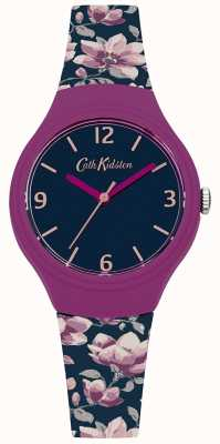 Cath Kidston Womans marine bloemen bedrukte siliconen band CKL028UP