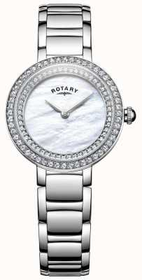 Rotary Womans steen set cocktail horloge LB05085/41L