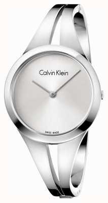 Calvin Klein Womans verslaafde stalen armband zilveren wijzerplaat m K7W2M116