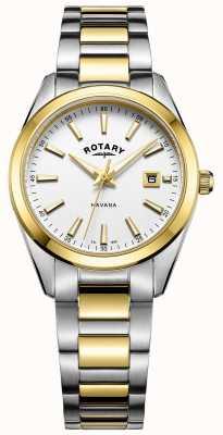 Rotary Dames Havana | tweekleurige roestvrij stalen armband | LB05080/02