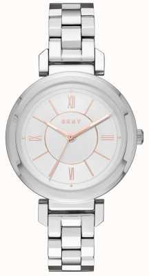 DKNY Womans ellington staal zilveren horloge NY2582