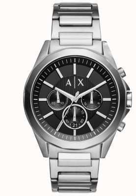 Armani Exchange Mens roestvrij staal zwarte chronograaf AX2600