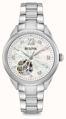 Bulova Women's automatische diamanten horloge 96P181