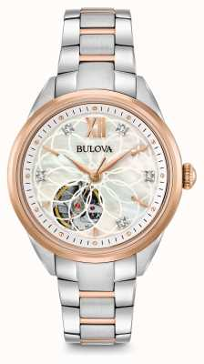 Bulova Women's automatische diamanten horloge 98P170