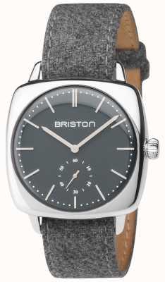 Briston Mens clubmaster vintage grijze wijzerplaat grijze stofbandje 17440.PS.V.17.LFG