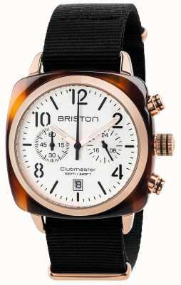 Briston Heren clubmaster klassieke chronograaf 17140.PRA.T.2.NB