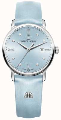 Maurice Lacroix Womans eliros acht diamanten blauw EL1094-SS001-550-1