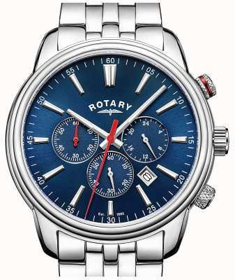 Rotary Mannen monaco chronograaf blauw GB05083/05