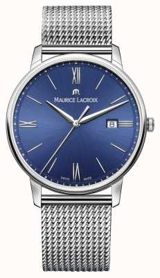 Maurice Lacroix Mens Eliros armband mesh band blauw EL1118-SS002-410-1