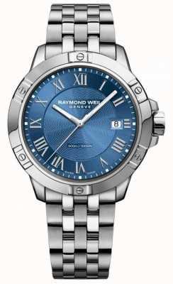Raymond Weil Heren tango stalen blauwe wijzerplaat zilver / blauw 8160-ST-00508