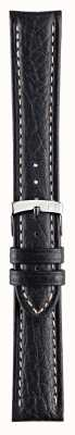 Morellato Alleen band - kuga echt leder zwart 22mm horlogebandje A01U3689A38019CR22